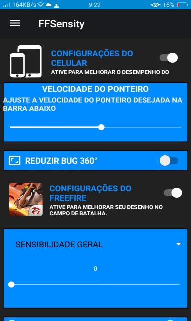 Screenshot of FFSensity