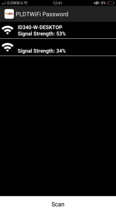 Screenshot of PLDT WiFi Hacker Apk