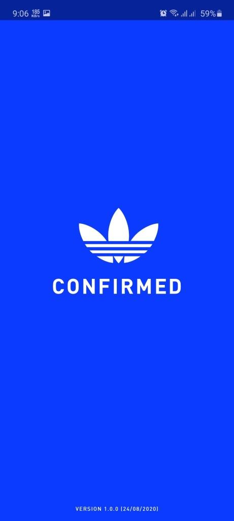 Screenshot of Adidas Confirmed App