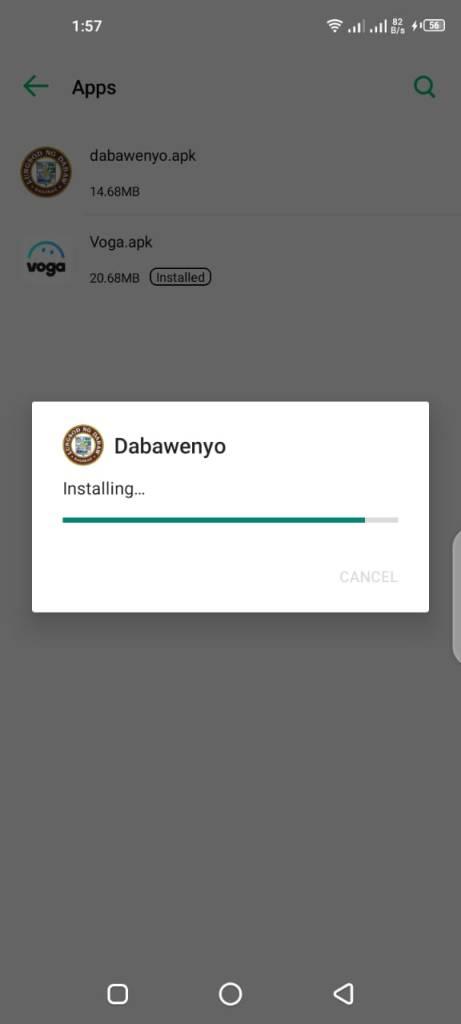 Screenshot of Dabawenyo App