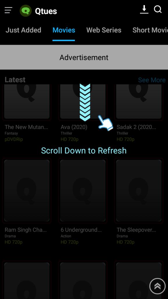 Screenshot of Qtues App