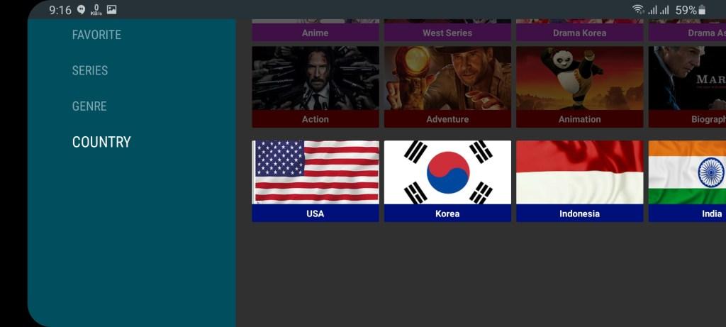 Screenshot of Novie TV Apk