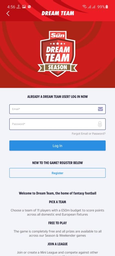 Screenshot of Sun Dream Team Apk