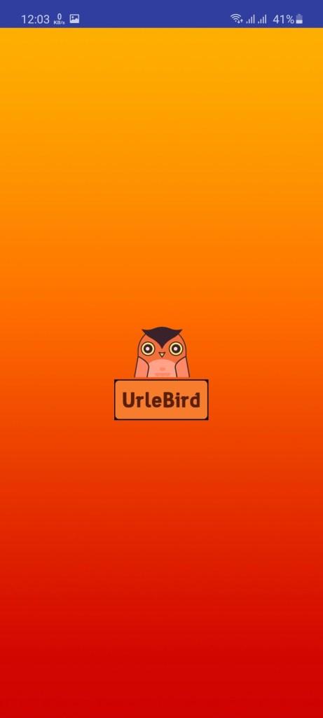 Screenshot of UrleBird App