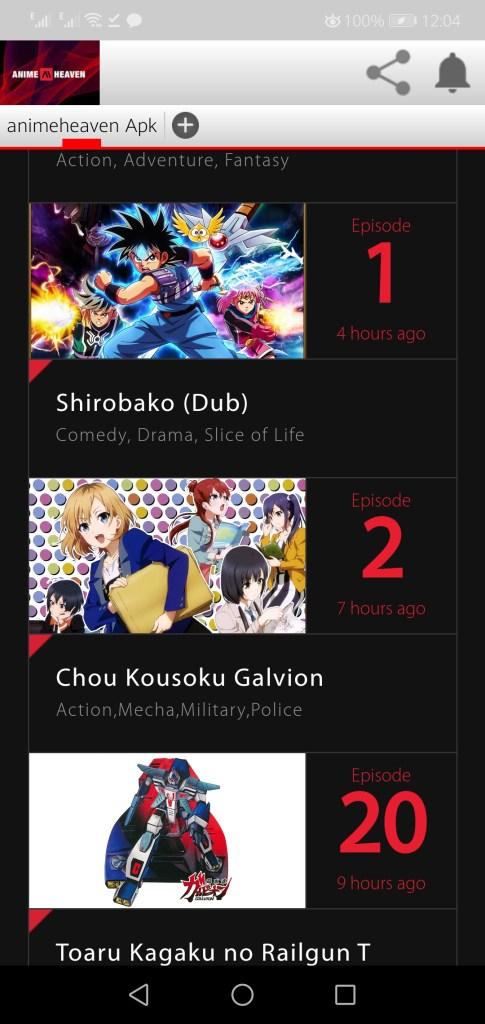 Screenshot of Animeheaven Apk