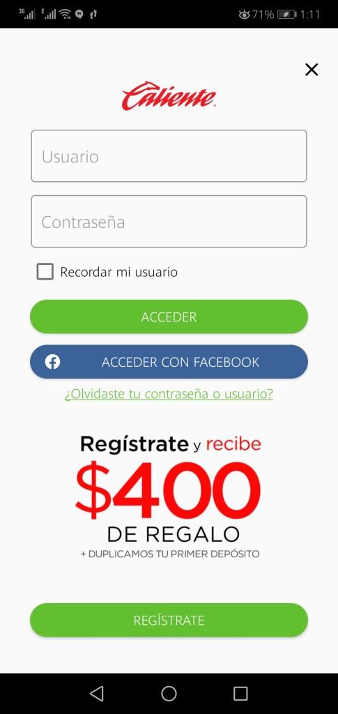 Screenshot of Calientesports.mx Apk