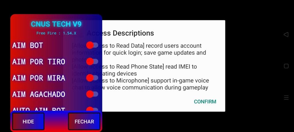 Screenshot of CNUS Tech Mod FF Diamond