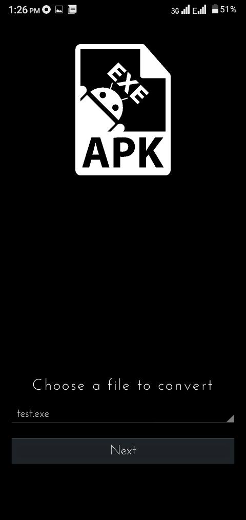 Screenshot of EXE To Apk