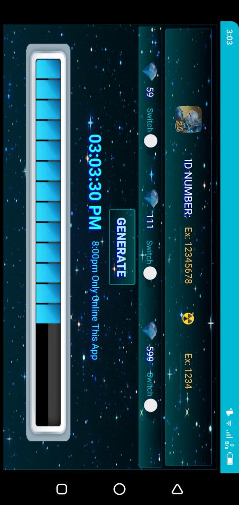 Screenshot Diamond Generator App