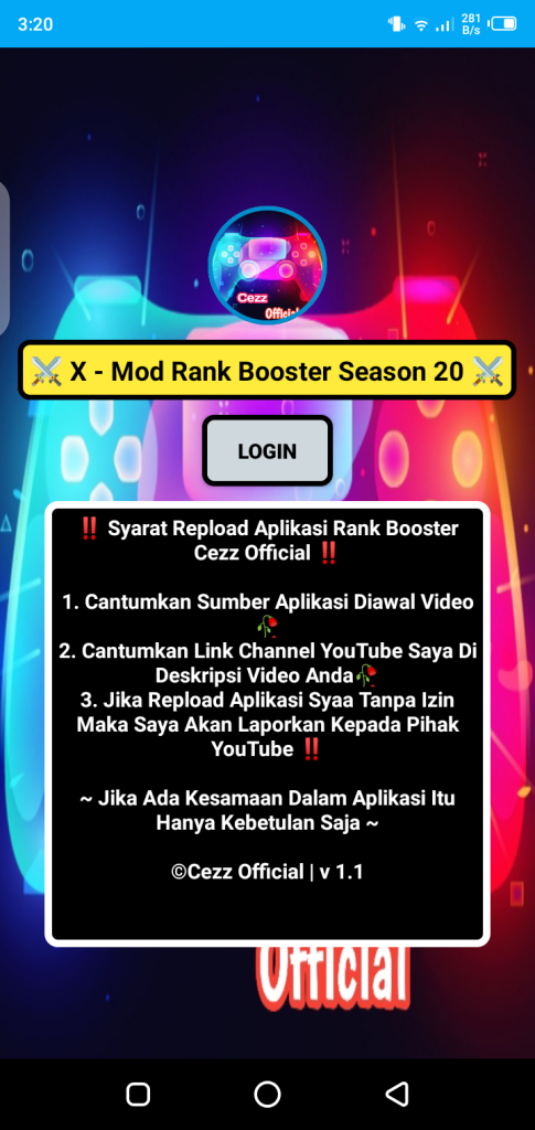 Screenshot of Rank Booster Cezz Official