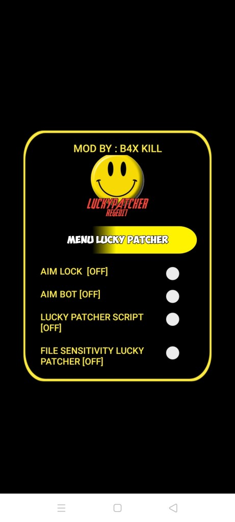 Screenshot of Regedit Lucky Patcher Apk
