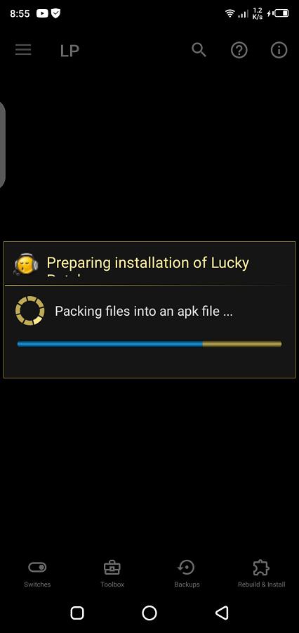 Screeenshot of LP Installer Android