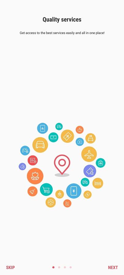 Screeenshot of Samsung Assistant App