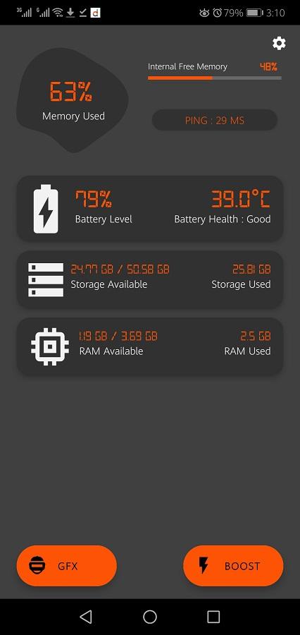 Screenshot of GFX TOOL BGMI App