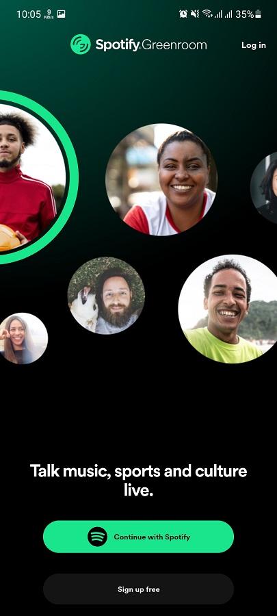 Screenshot of Spotify Greenroom Android