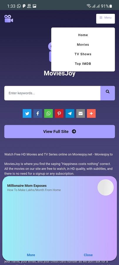 Screenshot of Moviesjoy Download