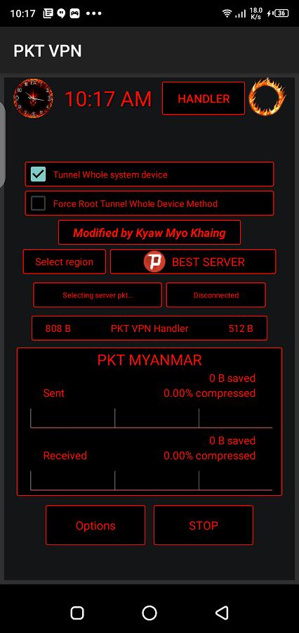 Screenshot of PKT VPN Apk