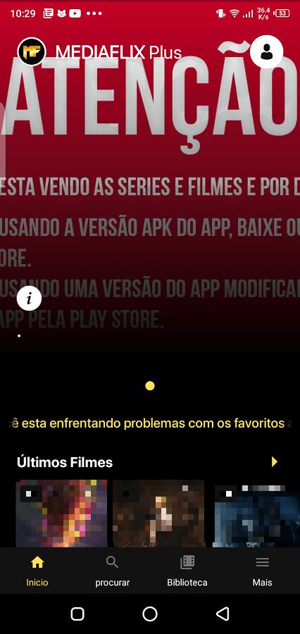 Screenshot of MediaFlix Plus App