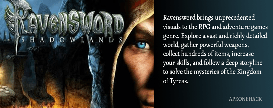 Ravensword: Shadowlands 3d RPG Apk + OBB Data [Full Paid] 4.53 Android Download by Crescent Moon Games