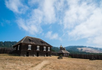 Scenes and details from Fort Ross State Historic Park on the coast of Sonoma County, Northern California