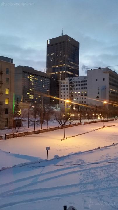 Winter light in downtown Winnipeg, Manitoba