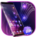 Download Abstract Neon Shiny Purple Flower stylish Theme 2.0.50 Free Download APK,APP2019