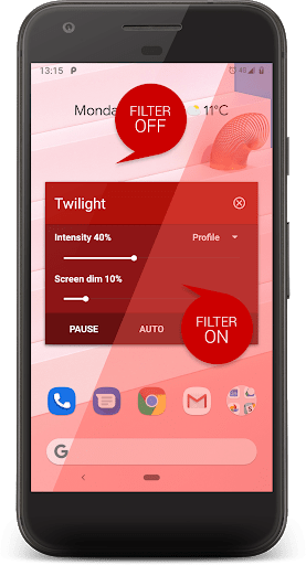 Twilight Blue light filter 10.2 screenshots 2