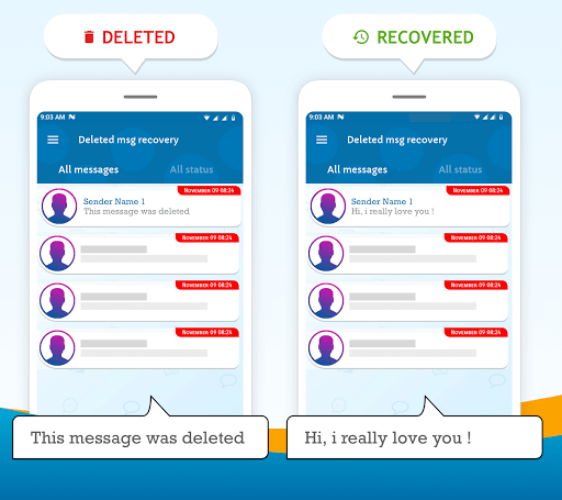 Deleted messages recovery whats see removed msg 1.2.2 screenshots 1