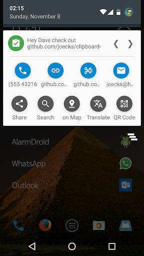 Clipboard Actions amp Manager 1.45 screenshots 1