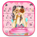 Download Pink Donut Girl Keyboard Theme 1.0 APK For Android