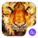 Download Flame Cool Tiger- APUS Launcher Free Theme 1063.0.1001 APK For Android