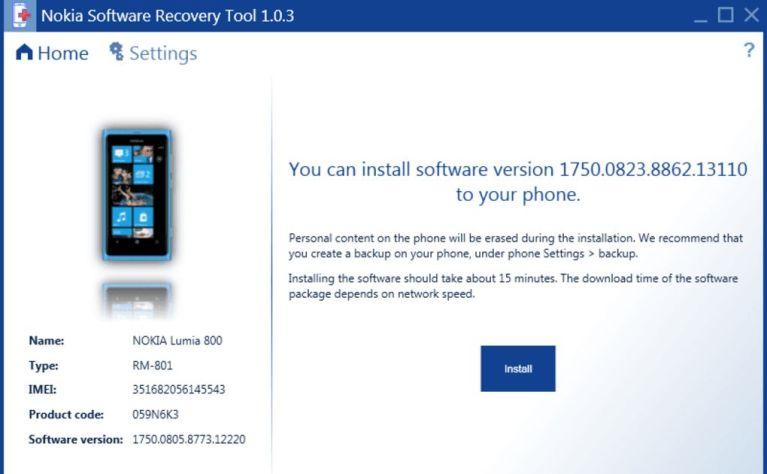 Nokia Lumia 520 Recovery Tool Logo