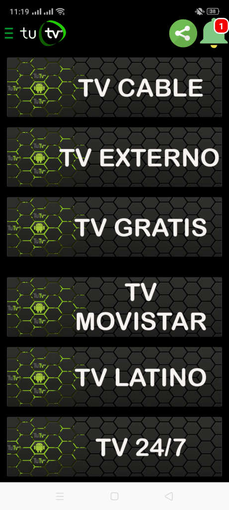 Screenshot of TUTV HD