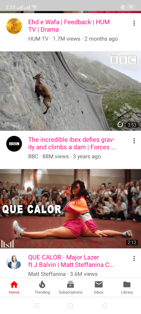 Screenshot of YouTube Pink For Android