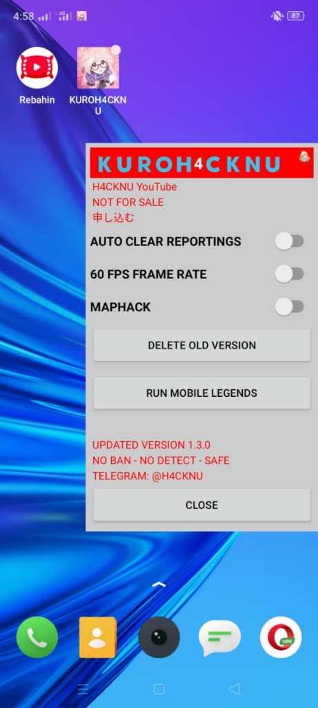 ScreenShot of Map Hack ML App