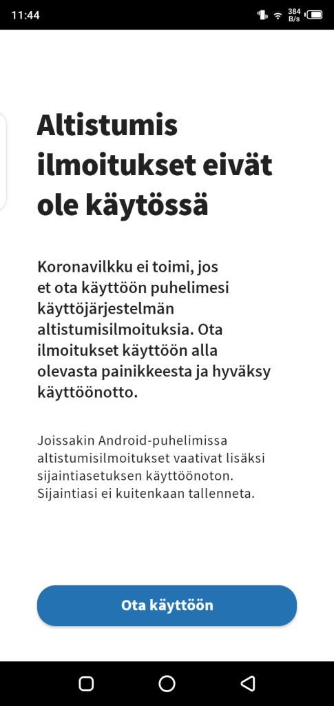 Screenshot of Koronavilkku  App APK
