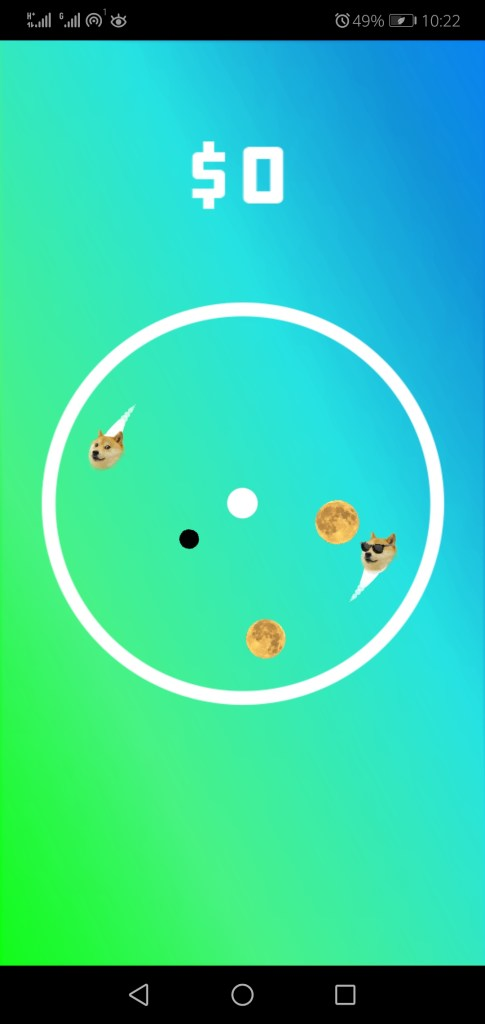 Screenshot of Dogecoin To The Moon Game