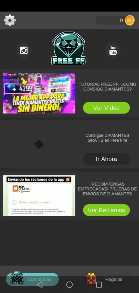 Screenshot of FF Diamantes App Apk