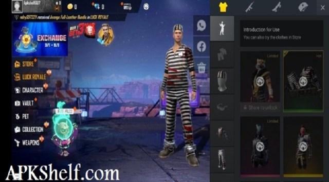 Screenshot of Free Skins In Free Fire Nicoo Apk