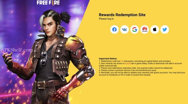 Screenshot of Free Skins In Free Fire Redeem code