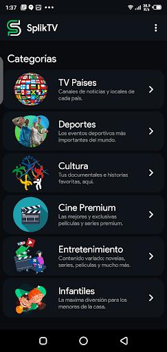 Screenshot of Splik TV App