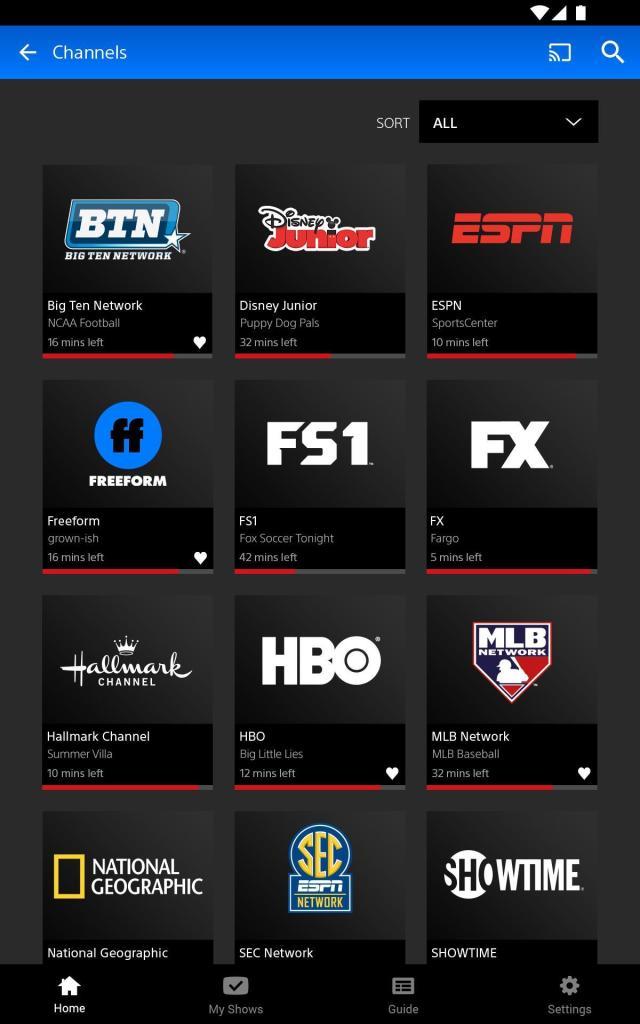 PlayStation Vue Mobile app