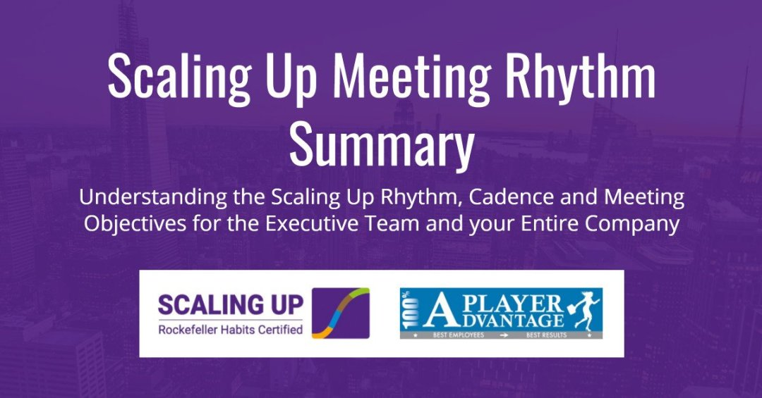 Scaling Up Meeting Rhythm Summary