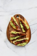 avo bacon toast