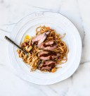 balsamic steak and linguine