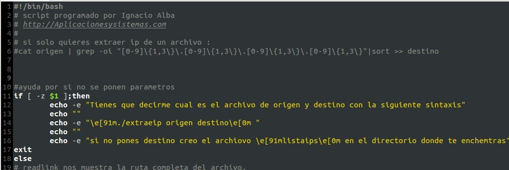 como extraer enderezos ip dun ficheiro