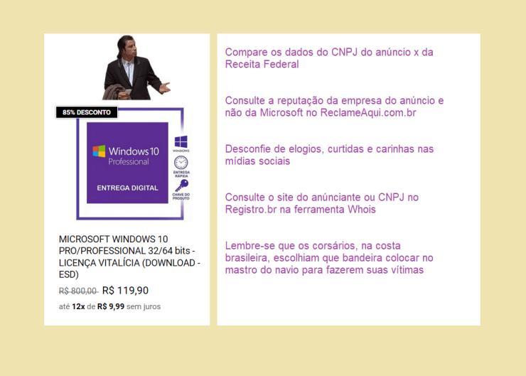 Dicas antes de comprar Windows 10 PRO em links de anúncios duvidosos