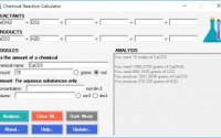 s chemical reaction calculator