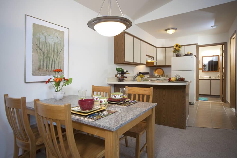 Hampton Apartments Model Kitchen