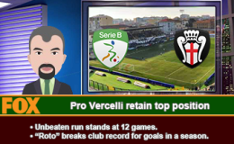 227: Pro Vercelli retain top position